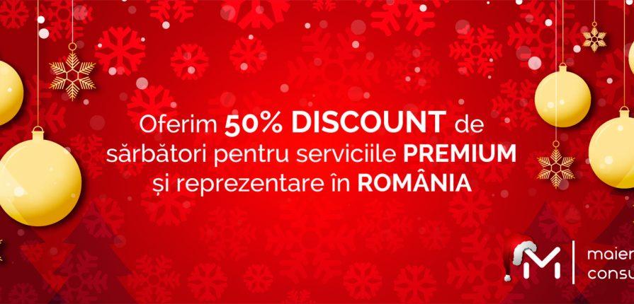 NOU - 50 % REDUCERE de sărbători